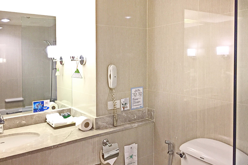 a bathroom of 2 bedroom suite